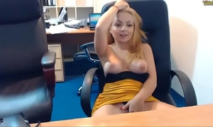 Natural beauty of emmafantasy21 on web camera. office role game scene. natural love bubbles.