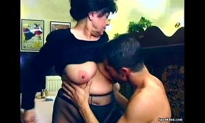 Sexy granny acquires drilled in restaurant