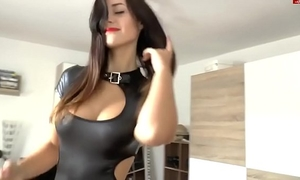 Fuck with slutwife in latex (home porn, cum on a-hole, phat tits)