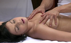 Orgasms gorgeous youthful white bitch has her hot body massaged and satisfied by hawt stud