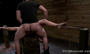 Tied to a crate and widen brunette hair stella may roughly drilled