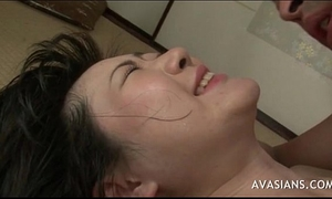 Asian slutty wife takes anal