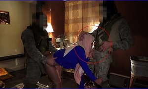 Tour of ass - local working arab housewife entertains soldiers for some elementary cash