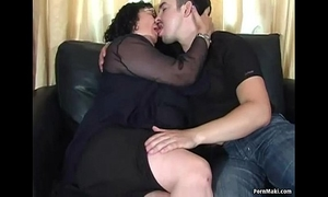 Fat granny can't live without anal
