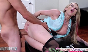 Busty blond hottie courtney cummz ride ramrod in the office